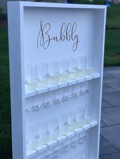 Diy Wedding, Dream Wedding, Elegant Wedding, Wedding Ideas, Wedding Donuts, Champagne Flutes, Champagne Tower, Safe Cleaning Products, Glass Holders