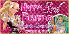 Birthday Tarpaulin Barbie Theme Template