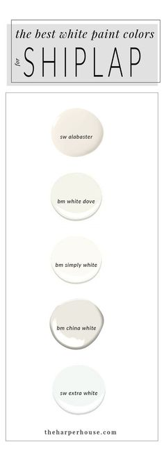 best white paint colors to paint shiplap; sherwin williams alabaster   www.theharperhouse.com