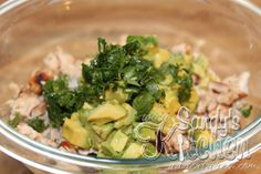 Sandy's Kitchen Avocado Chicken Salad with limes and cilantro - mmmm this sounds heavenly... and Medifast friendly!