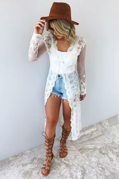 Caught in a dream cardigan: cream country concert outfit summer, boho chic outfits summer Summer Fashion Trends, Summer Fashion Outfits, Boho Outfits, Cute Fashion, Spring Outfits, Womens Fashion, Boho Chic Outfits Summer, Fashion Spring, Fashion 2018