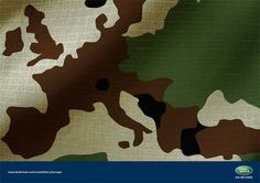 Print advertisement created by Rees Bradley Hepburn, United Kingdom for Land Rover, within the category: Automotive. Land Rover Series 3, Australian Defence Force, Visual Communication, Land Rover Defender, Landing, Camouflage, Moose Art, Ads, Advertising