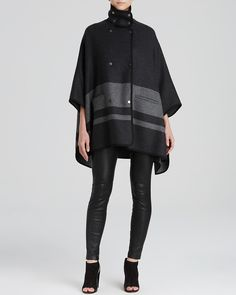 Vince Cape Coat - Blanket Stripe | Bloomingdale's