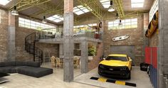 For the minimalist and car lover. House and garage in one.