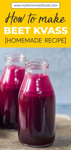 Learn how to make beet kvass at home. My homemade beet kvass recipe is easy to make and delicious. Fermentation Recipes, Canning Recipes, Detox Drinks, Healthy Drinks, Healthy Food, Kombucha, Beet Recipes, Healthy Recipes, How To Make Beets