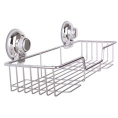 Ipegtop Kitchen Bathroom Stainless Steel Rectangle Shower Storage With Rotate Lock Suction Cups Strong Cup Caddies Wall Shelves