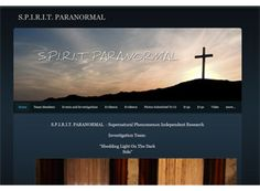 The content is creepy but the paranormal website has a nice design. The menu bar is a little unconventional, but the pages are designed to handle the content.