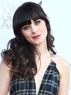 Cut Blunt Bangs  Give extra-long locks an instant update with freshly cropped fringe like Zooey Deschanel's. Tell your stylist to snip the center pieces so they fall right below your eyebrows, while the outer ones should be slightly longer.