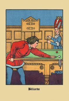 The Billiards 12x18 Giclee on canvas