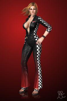 DOA5 Ultimate - Tina Armstrong (racer) by Sticklove.deviantart.com on @deviantART
