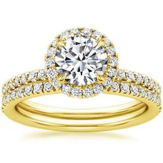 18K Yellow Gold Waverly Diamond Matched Set (3/4 ct. tw.) from Brilliant Earth