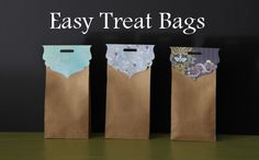 Easy Treat Bags project using the Where Women Cook Collection of dies from #Sizzix. #project #treats #bags #DIY