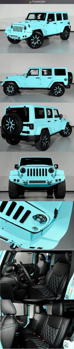 Starwood Motors Custom Tiffany Blue Jeep Wrangler - If you can dream it up, we can build it! #starwoodmotors #Jeep #JeepWrangler #Tiffanys #TiffanyBlue #CustomJeep #JeepMods #JeepLife #JeepGirl