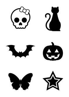 Mini Black Temporary Tattoos Group 3