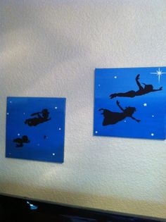 ThanksDIY Disney silhouette paintings awesome pin
