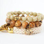 THAI SET-jewellery by Issi Beaded Bracelets, Belt, Cream, Jewelry, Jewerly, Belts, Creme Caramel, Jewlery, Pearl Bracelets