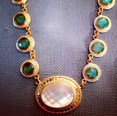 Chrysocolla and Mother of Pearl <3
