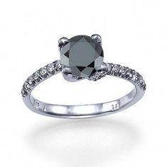 c407c42b4bad Items similar to Eternal Bond - With 1.50ct Black Diamond on Etsy   diamondrings Anillos