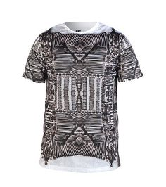 WAIMEA Graphic tee Short sleeves Crew neck All-over abstract bones print Cotton for comfort
