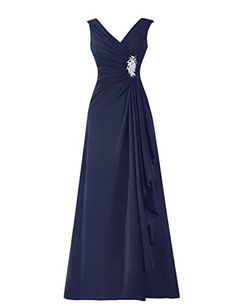 Diyouth Long Chiffon Pleated Ruffles Mother of the Bride Dress Navy Size 12 Diyouth http://www.amazon.com/dp/B00TX554MC/ref=cm_sw_r_pi_dp_knwcvb1AQKWYV