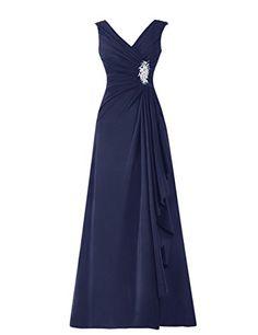 Diyouth Long Chiffon Pleated Ruffles Mother of the Bride Dress Navy Size 12 Diyouth http://www.amazon.com/dp/B00TX554MC/ref=cm_sw_r_pi_dp_knwcvb1AQKWYV