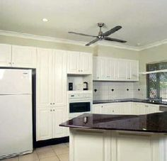 Painting Melamine Kitchen Cabinets Before And After   Kitchen ...