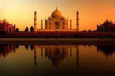 Beautiful sunset at TajMahal