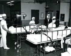 In this photo from the late 1950s, Lancaster General Hospital nurses care for patients in the hospital's recovery room. How does it differ from today's recovery room at the hospital?