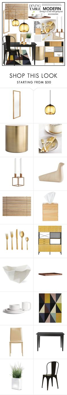 """Modern accessorize a black dining table"" by janephoto ❤ liked on Polyvore featuring interior, interiors, interior design, home, home decor, interior decorating, Design Within Reach, Ronan + Erwan Bouroullec, Charles and Ray Eames and JDS Architects"