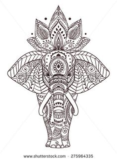 Hand drawn elephant Fotos, imágenes y retratos en stock | Shutterstock