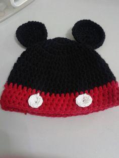 Disney Mickey Mouse Crochet Beanie   Photo Props Beanie   Etsy Baby ... d060ad83562d