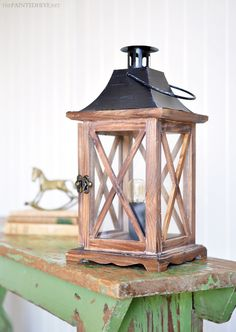 DIY Lantern Lamp | The Painted Hive