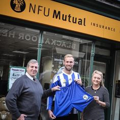 Cliffe FC unveiled their new first team shorts sponsor this morning. Dan Collins is pictured with Katy and Martin from NFU Mutual Selby. http://www.cliffefc.com/nfu-mutual-selby/  Cliffe FC will be wearing their new home strip this Saturday.