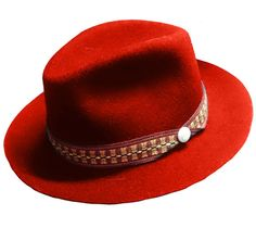 Andean Folk Felted Wool Hat   Handmade in Ecuador by shopandes