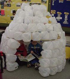Build an igloo in the classroom!