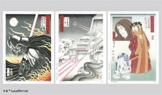This project reimagines Star Wars scenes as lovely Japanese woodblock art. The Japanese art of Ukiyo-e is from the Meiji era, where three. Star Images, Japan Image, Japanese Paper, Star Wars Art, Woodblock Print, New Art, Original Artwork, Illustration Art, Illustrations