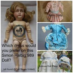 Dress your #antique #doll with a fine dress found @Dollshopsunited http://www.dollshopsunited.com/directory/Doll-Clothing… #dollshopsunited