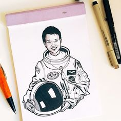 #inktober Day 29: Mae Jemison  She is an American engineer physician and NASA astronaut. She became the first woman of color woman to travel in space when she went into orbit aboard the Space Shuttle Endeavour on September 12 1992. She is also a dancer a Peace Corps volunteer and holds nine honorary doctorates in science engineering letters and the humanities.     #inktober #inktober2017 #ink #drawing #illustration #wonderwomen #maejemison #womeninspace #womenofnasa #womenintech #womeninstem… Women In History, Black History, Peace Corps, Nasa Astronauts, Flower Mandala, Mandala Pattern, Space Shuttle, Inktober, Dancer