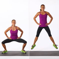 Pin for Later: Squeeze in This 15-Minute Butt Workout, and Your Bikini Will Thank You Sumo Squat Jumps