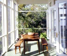 modern screened porch