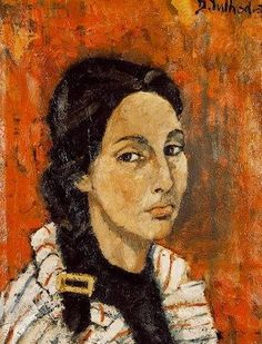 autoritratto di Dolores Puthod 1956 olio su tela cm.50x70
