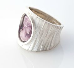 SALE  Steampunk Purple Unisex Cameo Ring. Sterling by AlexDeHaro, $84.00