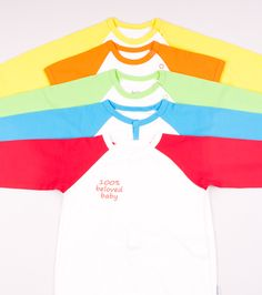 The colors of rainbow.  Organic cotton means nature.