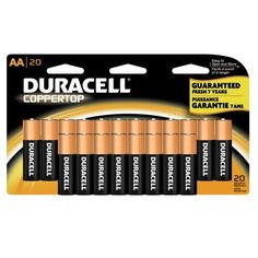Duracell Coppertop AA Batteries  20-Count: http://www.amazon.com/Duracell-Coppertop-AA-Batteries-20-Count/dp/B002UXRXEG/?tag=lifestyle88-20