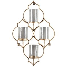 Whether styled solo or purchased in pairs and flanking a mirror or mantle, this wall sconce adds glitz and glamour to your living space. Antiqued goldtone finish reflects the candles' flickering light in such a stunning way.