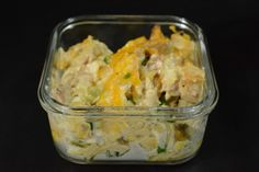Cauliflower Casserole - My latest addition to the weekly keto lunch lineup combines chicken thighs and cauliflower into a creamy, cheesy casserole!