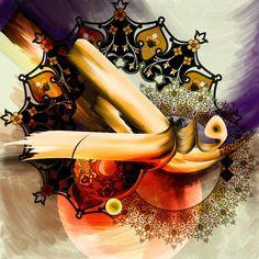 DesertRose,;,Tc Calligraphy 92 Ar Raqib 2 Painting,;,