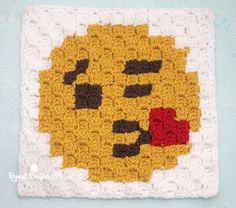 Blowing Kiss Emoji C2C Square and Pixel Graph | Repeat Crafter Me | Bloglovin'