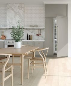 Get the look with Fisher & Paykel's customizable integrated column refrigerators and freezers. Modern Kitchen Interiors, Modern Kitchen Design, Interior Design Kitchen, Modern Kitchens, Craftsman Kitchen, Rustic Kitchen, Skandi Kitchen, Joanna Gaines, Kitchen Decor Items