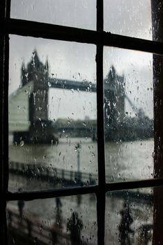 through the window. Rainy Day, The Tower Bridge, London London Calling, Places To Travel, Places To See, Travel Destinations, London Bridge, London Rain, London City, Window View, Window Panes